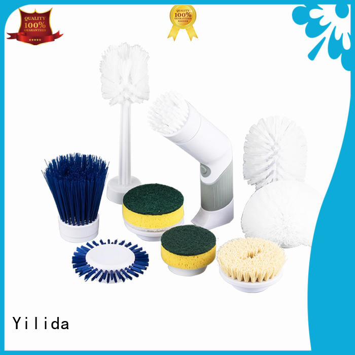 Yilida electric electric scrub brush bathroom factory price for leather shoes